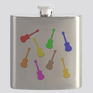 rainbow ukulele Flask