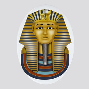 Egyptian King Tut Oval Ornament