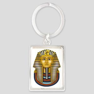 Egyptian King Tut Portrait Keychain