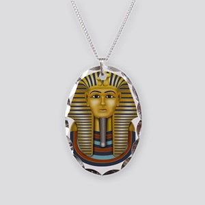 Egyptian King Tut Necklace Oval Charm