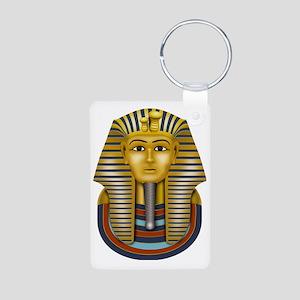 Egyptian King Tut Aluminum Photo Keychain