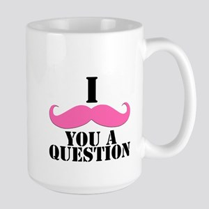 I Mustache You A Questions | Pink Mustache Large M