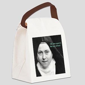 Words from Sainte Thérèse de Lisi Canvas Lunch Bag