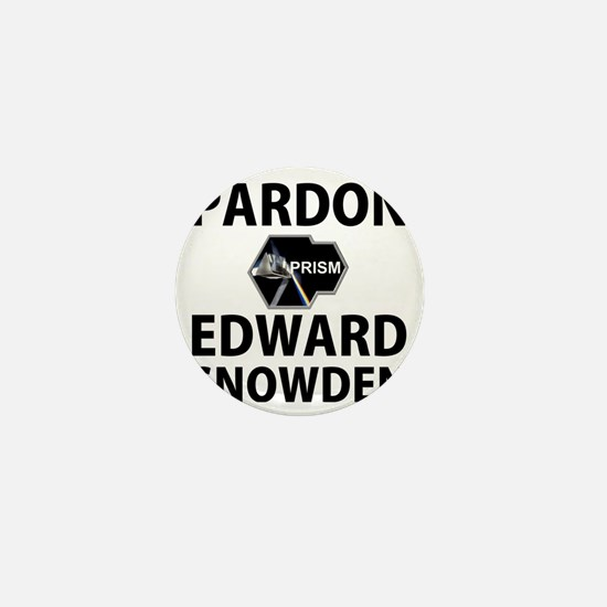 Pardon Edward Snowden Mini Button