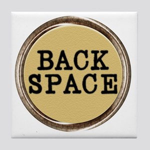 Back Space Key Tile Coaster