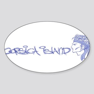 Corsica Island Oval Sticker
