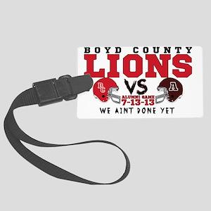 Boyd County Alumni Football Game Large Luggage Tag