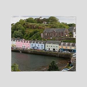 Portree, Isle of Skye, Scotland Throw Blanket