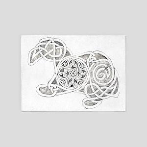 Celtic Rorschach 5'x7'Area Rug
