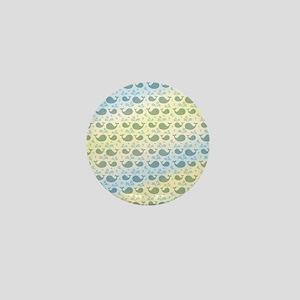 Cute Whale Pattern Mini Button