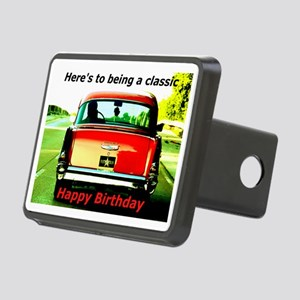 Being Classic Birthday Car Rectangular Hitch Cover