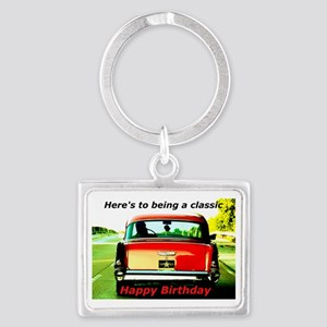 Being Classic Birthday Card Landscape Keychain