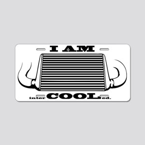 I am intercooled Aluminum License Plate