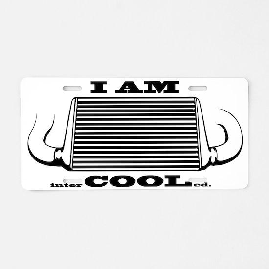 I am intercooled Aluminum License Plate