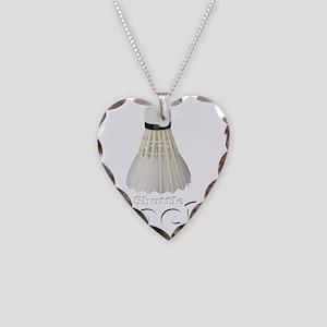 Shuttle Cock - DARK Necklace Heart Charm