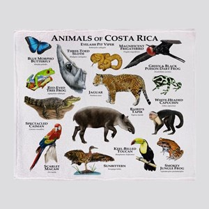 Costa Rica Animals Throw Blanket