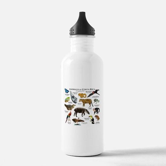 Costa Rica Animals Water Bottle