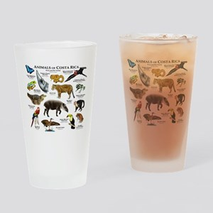 Costa Rica Animals Drinking Glass