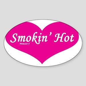 Smokin Hot ladies Sticker (Oval)
