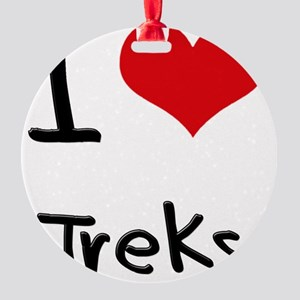 I love Treks Round Ornament
