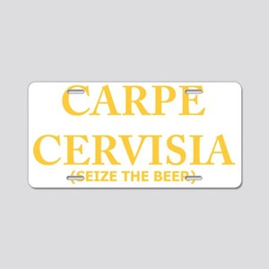 Carpe Cervizia, Beer Drinki Aluminum License Plate
