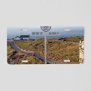 Lands End, Cornwall, Englan Aluminum License Plate