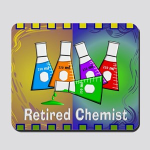 Retired chemist blanket 7 Mousepad