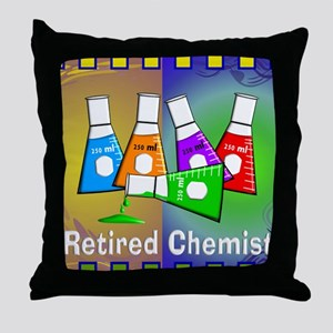 Retired chemist blanket 7 Throw Pillow