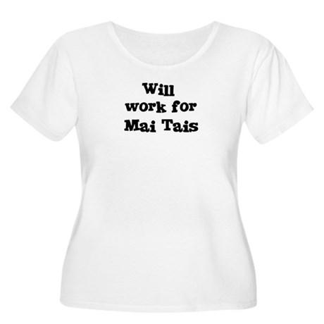 Will work for Mai Tais Women's Plus Size Scoop Nec