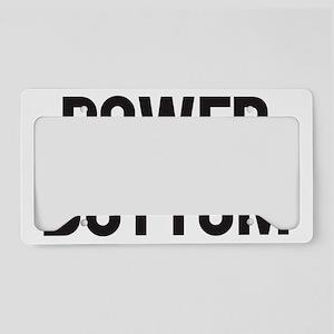 Power Bottom License Plate Holder