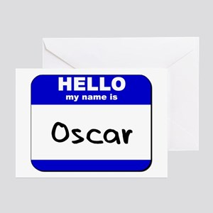 hello my name is oscar  Greeting Cards (Package of