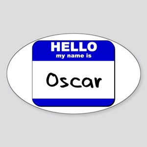 hello my name is oscar Oval Sticker