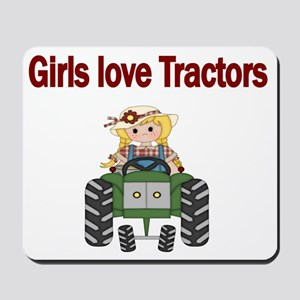 Girls love Tractors Mousepad