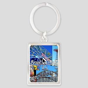 Coney Island Bklyn Baby Portrait Keychain