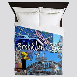 Coney Island Bklyn Baby Queen Duvet