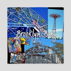 Coney Island Bklyn Baby Queen Duvet