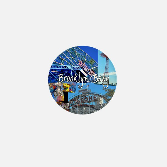 Coney Island Bklyn Baby Mini Button