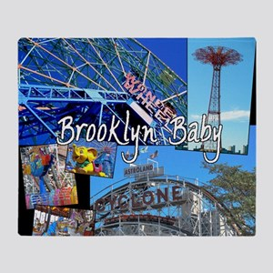 Coney Island Bklyn Baby Throw Blanket