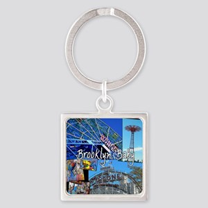Coney Island Bklyn Baby Square Keychain