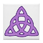 Purple Triquetra Tile Coaster