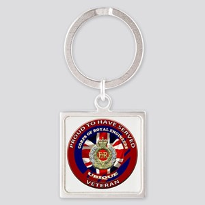 proud to be a royal engineer veter Square Keychain