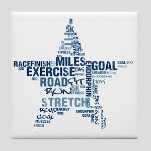 Running Star Tile Coaster