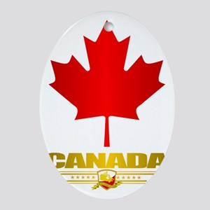 Canada Maple Leaf Oval Ornament