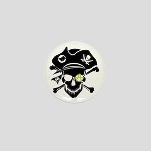 Black Captain Mini Button