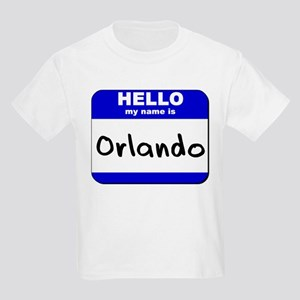 hello my name is orlando Kids Light T-Shirt