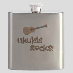 ukulele uke funny ukele design Flask