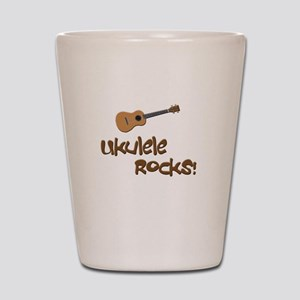 ukulele uke funny ukele design Shot Glass