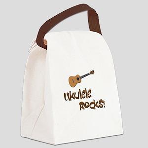 ukulele uke funny ukele design Canvas Lunch Bag