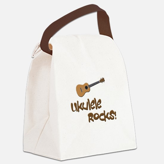 ukulele uke funny ukele design Canvas Lunch Bag