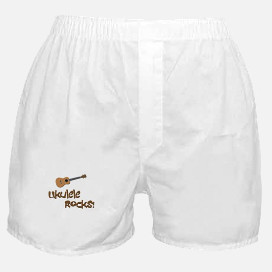 ukulele uke funny ukele design Boxer Shorts